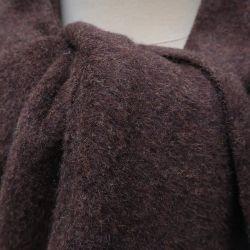 Echarpe marrons glacés en fleece de Coton biologique certifié Gots épais, Echarpe luxe Paris PhilippeGaber