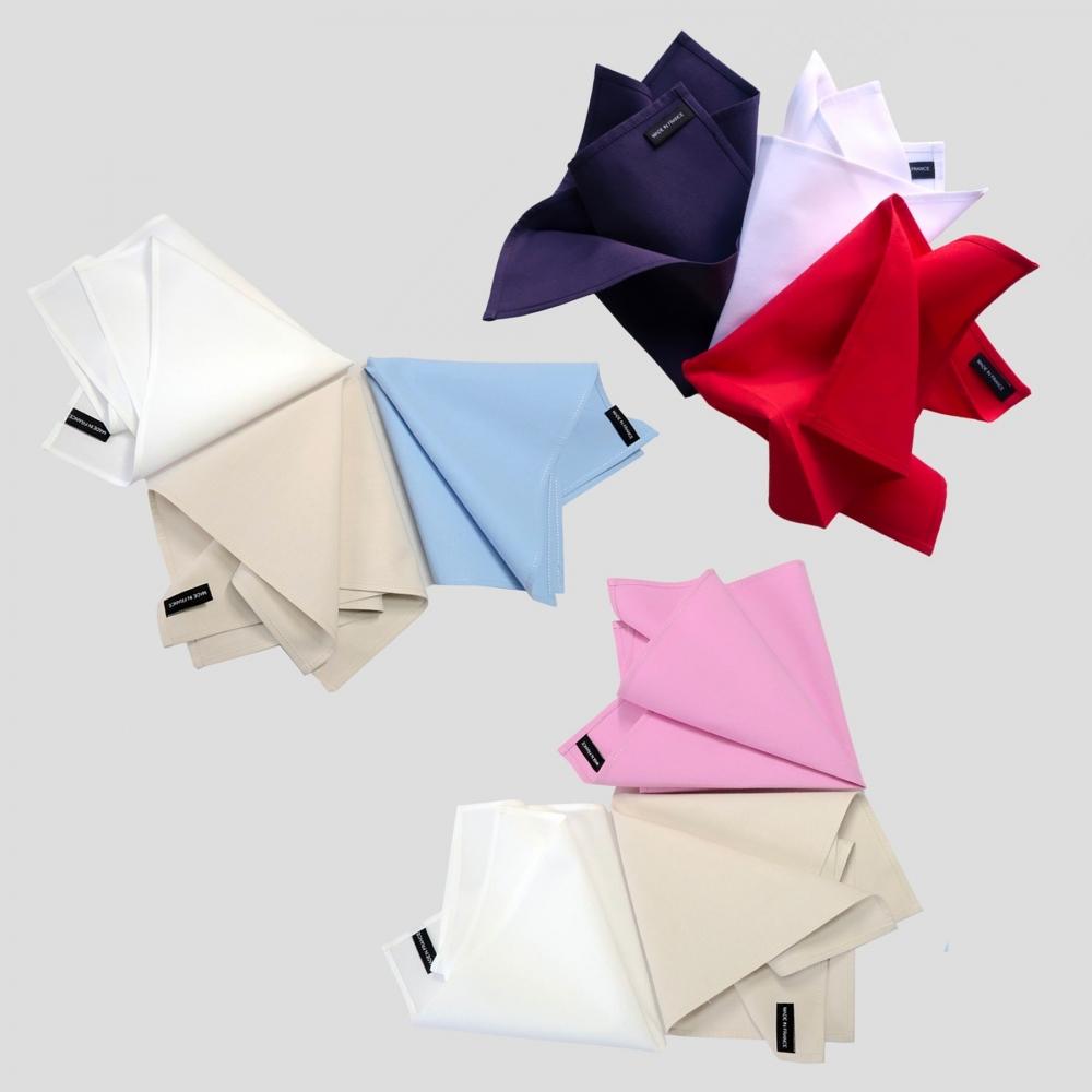 Mouchoirs en coton bio tissé en France et certifié Gots fabriqués à Paris par Philippe Gaber