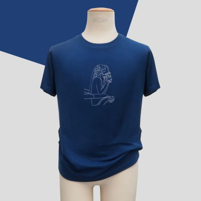 Organic T-shirt Made in Paris the Stryge embroidered made in France by PhilippeGaber