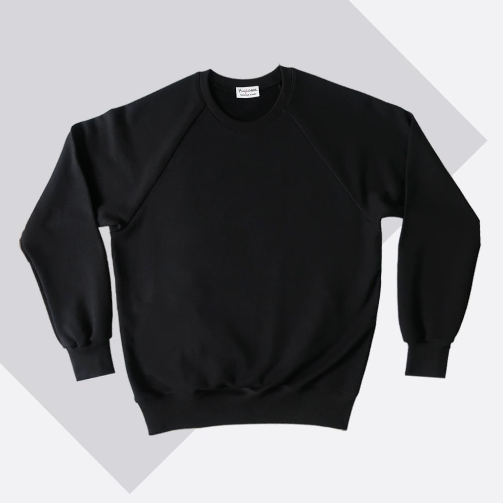 Sweat-shirt 100% coton biologique noir certifié GOTS fabriqué avec éthique à Paris XIe par Philippegaber.