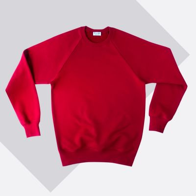 Red Organic sweatshirt made...