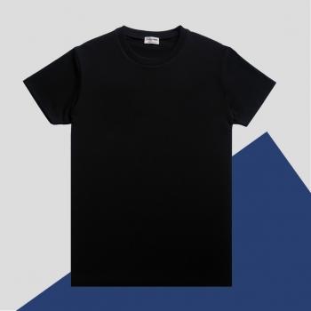T-shirt bio noir Gots et Made in France homme & femme fabriqué à Paris avec éthique par Philippe Gaber