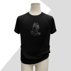 Black Organic T-shirt with...
