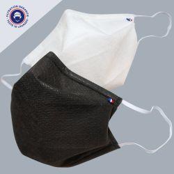 masque en tissu Oeko-tex UNS 1 - testé DGA + 10 lavages + fabriqué à Paris PhilippeGaber