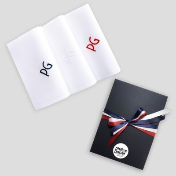 Mouchoirs français coton biologique personnalisés broderie initiales Bleu Blanc Rouge fabriqués à Paris PhilippeGaber