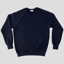 Sweat-shirt français 100% coton biologique bleu nuit. Sweat-shirt made in France fabriqué à Paris par Philippe Gaber depuis 2009