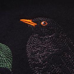 T-shirt français en coton biologique un merle dans la nuit parisienne PhilippeGaber ©philippegaber