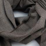 Echarpe laine & soir microfantaisie marron