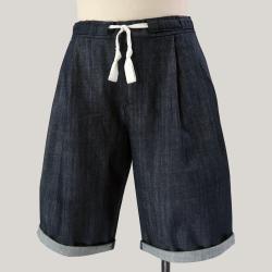 Bermuda en Jeans brut coton biologique Gots fabriqué à Paris par Philippegaber