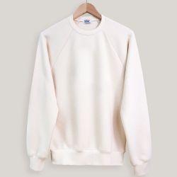 Sweatshirt coton biologique écru certifié Gots  Made in France car fabriqué à Paris par PhilippeGaber