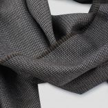 Echarpe laine & soie micro-fantaisie marron