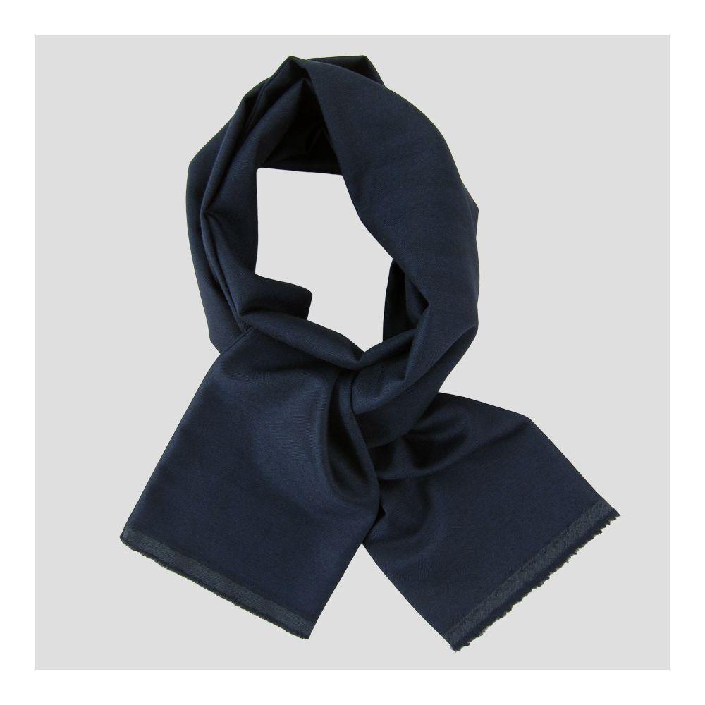 Foulard bleu marine cachemire laine et soie chevrons Echarpe luxe Paris made in France pour homme & femme écharpe luxe Paris