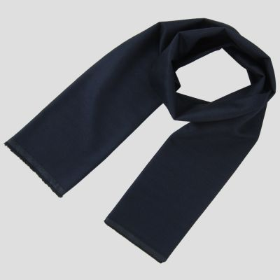 Navy Wool cashmere & Silk herringbone men and women made in France