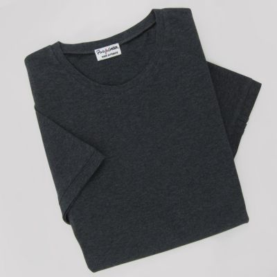 Men's & women's Organic T-shirt 3 folds left sleeve Made in France by PhilippeGaber  ethical fashion t-shirt Made in Paris