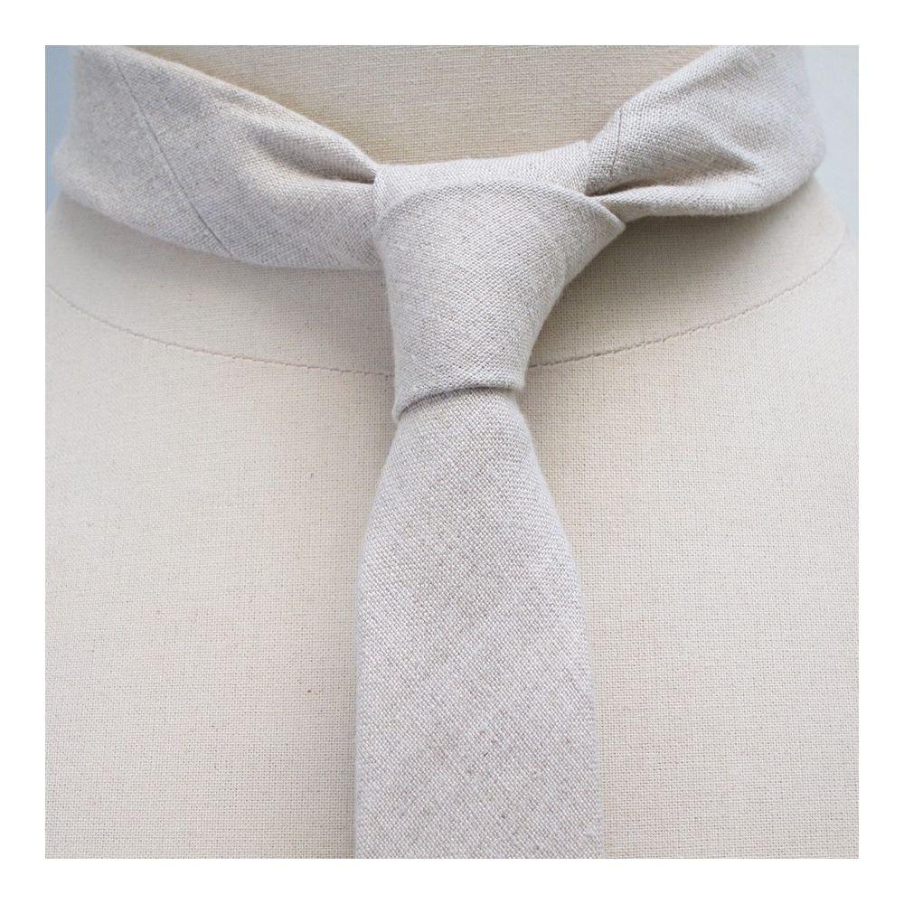 파리의 수제 유기농 린넨 타이 Organic flax Handmade Tie in Paris Philippe Gaber