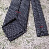 파리-수제-울-실크-넥타이 Wool & Silk handmade necktie Made in France