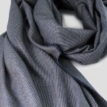 Echarpe 2M laine & soie micro fantaisie