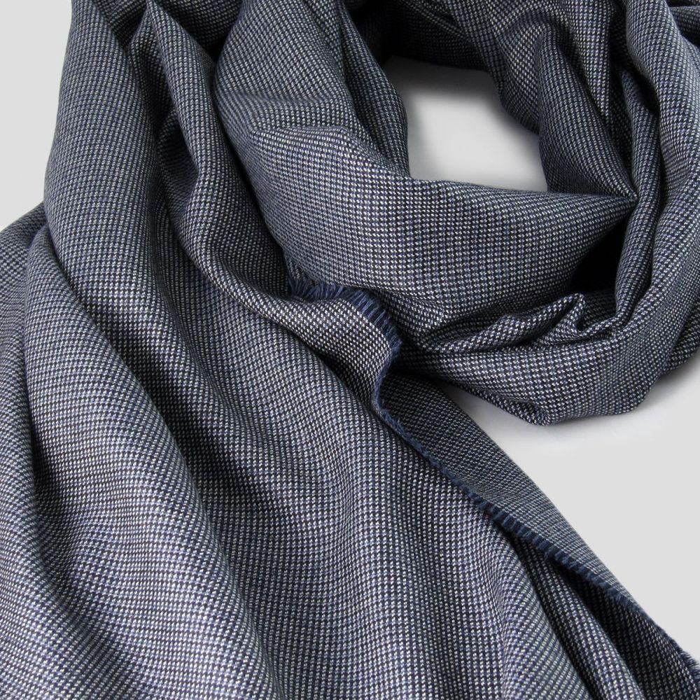 a61251cac08a écharpe Luxe Laine   soie bleu pour Homme Femme écharpe Made in Paris