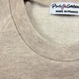 Sweat-shirt enfant made in France coton bio rose écru bleu ciel. Sweatshirt fille & garçon fabriqué à Paris PhilippeGaber