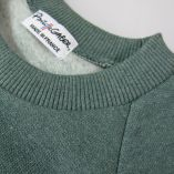Organic Sweatshirt 3 folds on both cuffs made in Paris