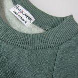 Organic Sweatshirt 3 folds on both cuffs made in Paris
