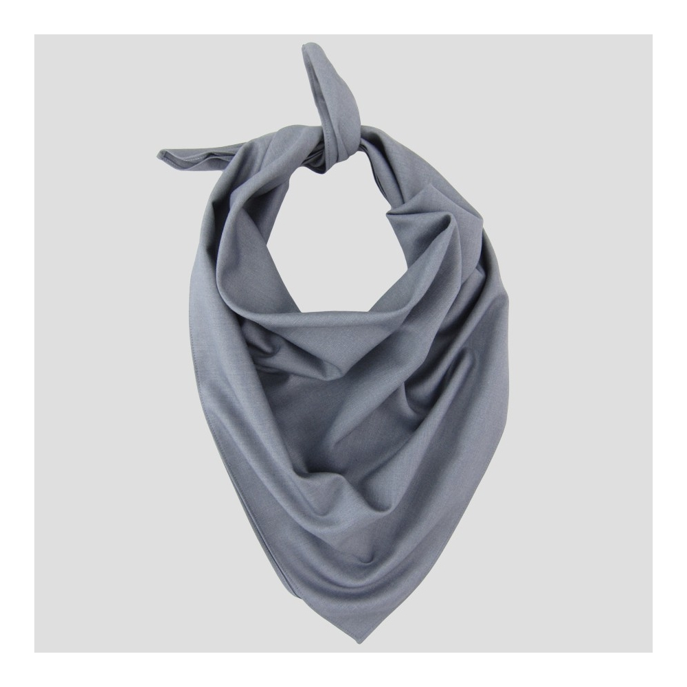 Cotton cashmere & silk square scarf for men and women Made in France philippe gaber