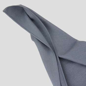 foulard carré Coton cachemire & soie bleu argent 1936 pour homme et femme made in France Philippe Gaber