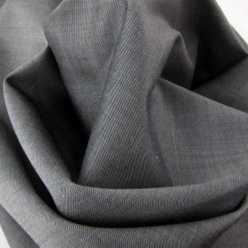 Steel gray silk square for men and women Made in France Philippe Gaber
