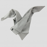 Carré Foulard mohair & soie Gris beige made in France Philippe Gaber pour homme & femme écharpes made in Paris France