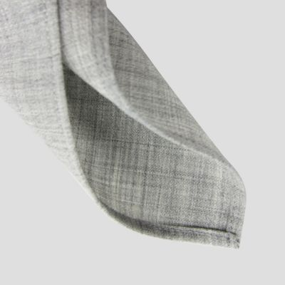 Beige gray mohair & silk square scarf for men and women Made in France Philippe Gaber