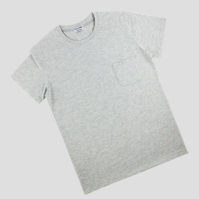 Heather Light grey Organic T-shirt Made in Paris