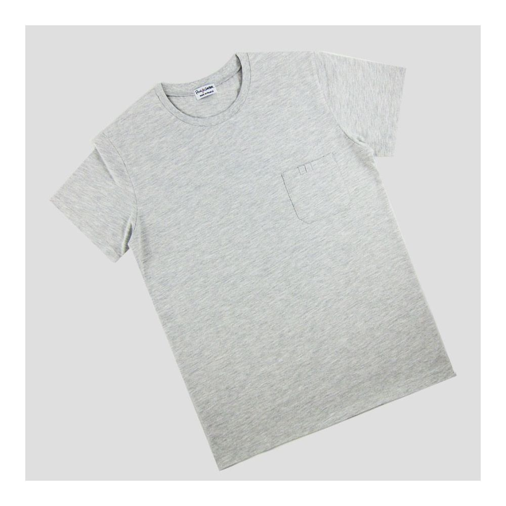 Heather Light grey Organic T-shirt Made in Paris