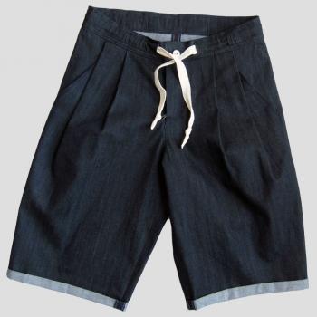 Bermuda Jeans Bio Indigo Gots made in Paris