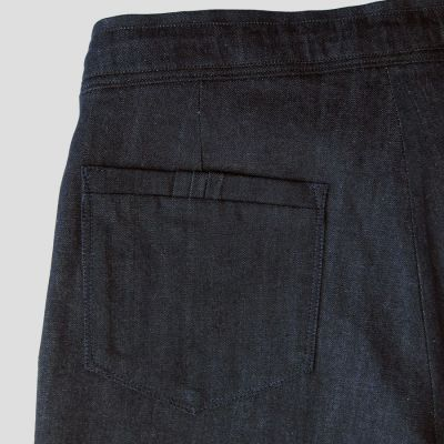 Organic indigo denim bermuda made in Paris