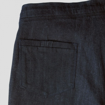 Bermuda Jeans Bio Indigo Gots made in Paris
