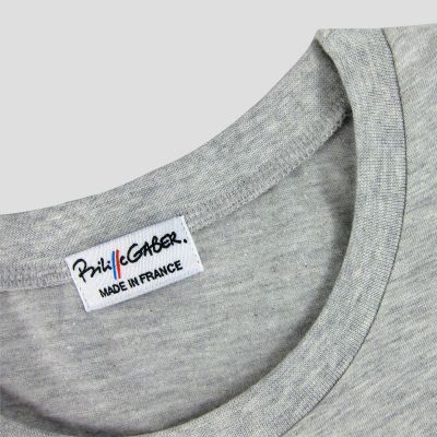 Organic T-shirt embroidered with silk thread for men and women ethical fashion T-shirt Made in France