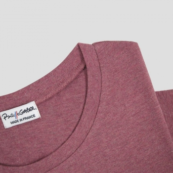 Organic round neck t-shirt for men and women Ethical T-shirt made in France by philippegaber