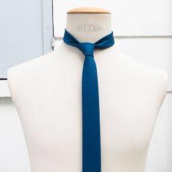 Caribbean cotton cashmere necktie handmade in Paris by philippegaber handmade necktie Made in France ©philippegaber