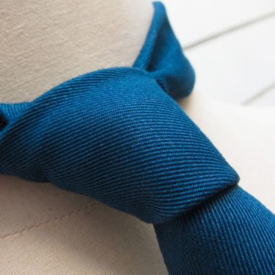 Caribbean cotton cashmere necktie handmade in Paris by philippegaber handmade necktie Made in France
