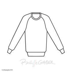 Sweat-shirt bio col V pour l'homme et la femme fabriqué à Paris par PhilippeGaber sweat-shirt coton bio en rose, naturel ou bleu