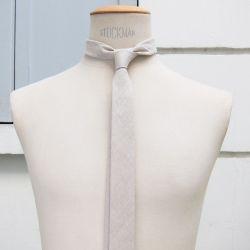 Organic Flax Gots Handmade Tie in Paris Philippe Gaber