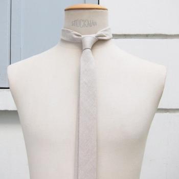 cravate luxe en lin naturel bio et Gots Fait Main à Paris philippegaber cravate éthique made in France