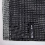 foulard laine & soie micro-fantaisie anthracite