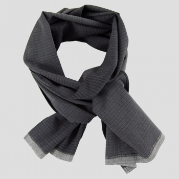 Wool & silk bi-colored dotted scarf made in France Philippe Gaber