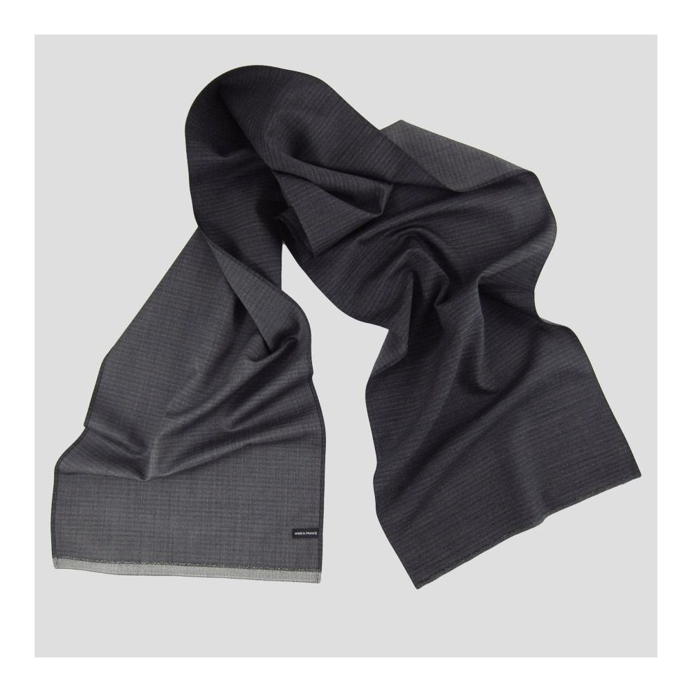 Foulard luxe homme et femme Laine et Soie dots made in France Philippe Gaber