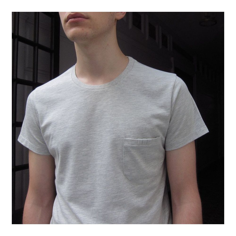 Organic T-shirt Made in France 3 folds front pocket Men and Women