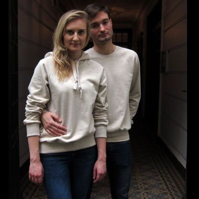 Organic Sweatshirt for men and women in organic cotton Gots Made in Paris with ethic by Philippe Gaber ethical fashion