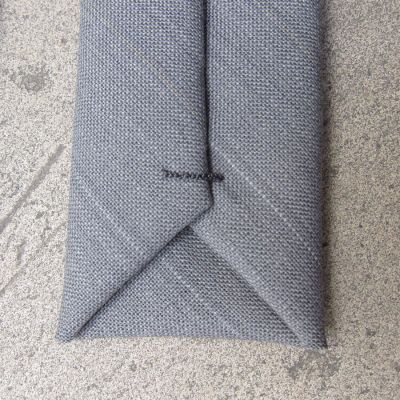 Gray sky from Paris in 1937 handmade Necktie in Paris