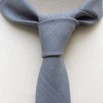 Cravate ciel gris Parisien de 1937 Fait Main à Paris