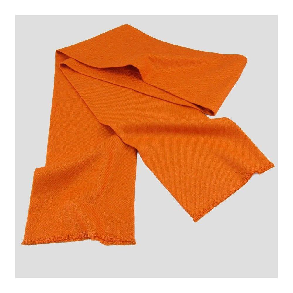 Écharpe 2M Cachemire et Pure laine Vierge Orange